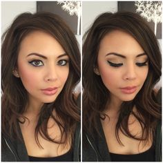 Janel Parrish Cat Eye Makeup smokey eye