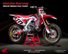 Honda CRF 450R World Motocross Team 2013