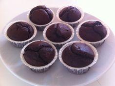 Chokoladekage-uden-æg muffins