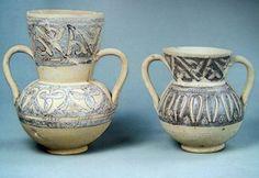 Jarras de ceràmica Omeya, Madīnat al-Zahrā', Califato de Cordoba. Museo arqueologico de Cordoba