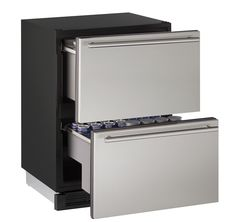 """U-line 24"""" CONVECTION COOL REFRIGERATOR DRAWERS STAINLESS STEEL"""