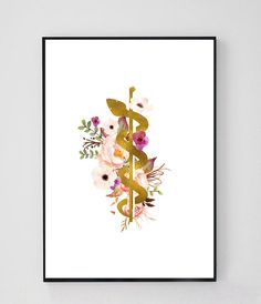 Rod of Asclepius Caduceus Art Medicine Symbol Doctor Medical Symbols, Medical Art, Medical Drawings, Medical Icon, Medical Doctor, Doctors Office Decor, Doctor Office, Symbol Drawing, Drawing Drawing