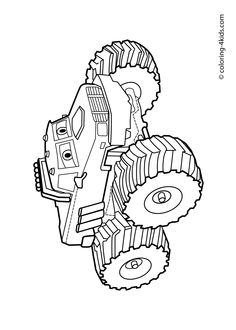 Son Uva Digger Monster Truck Coloring Page | Daycare class ...