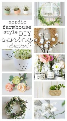 Need inspiration to decorate your home for spring? Check out this beautiful roundup of nordic farmhouse style DIY spring decor