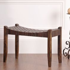 William Sheppee Saddler Wood Bench-I don't have anywhere to put this bench, but I really like it.  It's shown on the blog HouseTweaking in their mudroom/dining room.