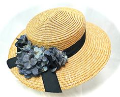 Women's Boater Hat Straw Hats Summer Hat  DH-121 by Marcellefinery