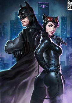 Batman and Catwoman by Alexandr Pascenko