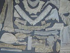 Lot of Antique Lace Trims, 33 Pieces of Dress Trims, Victorian Edwardian, Vintage 1800s 1900s, Lace Crochet
