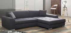 Rohová sedacia súprava Marisa s úložným priestorom Corner Sofa, Outdoor Furniture, Outdoor Decor, Portland, Black And Grey, Loft, Colours, Brown, Fabric