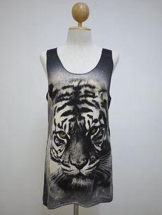 688fa6e2e09bad Wild Tiger (Size M)   Bengal Siberian Wildlife Animal t-shirt tank top Tunic  Unisex Shirt Vest Women Sleeveless men Singlet Black T-Shirt