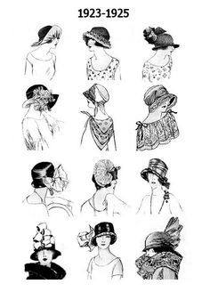 vintage hats. I love hats and the 1920s.