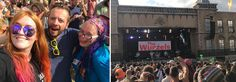Oxfam friends at the Wurzels on the Town Centre Stage at Boomtown Fair 2017