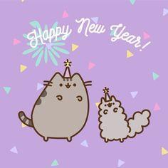 New Year Wallpaper, Wallpaper Iphone Cute, Cute Wallpapers, Pusheen Stormy, Pusheen Cute, New Year Illustration, Simons Cat, Kawaii Cat, Halloween Fashion