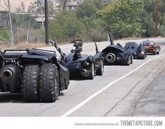 Just all the Batman cars on the road…casual Sunday...