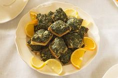 """Spinach Toasts - 18th century recipe 