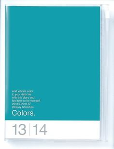 A6 Agenda 2014 - Colors Turquoise