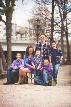 Purple family photos! (McManigal Photography)