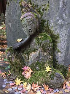buddhist statue from nezu garden, Tokyo