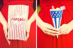 Popcorn and patriotism for a 4th of July wedding!