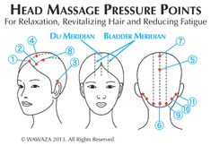 Shiatsu Massage - Anti-Static, polished pins bring out hair's natural beauty and shine. Rounded pins stimulate Shiatsu pressure points for relaxation and revitalizing hair. Handmade in Japan. Acupressure Massage, Acupressure Treatment, Acupressure Points, Acupressure Therapy, Acupuncture Points, Hair Massage, Self Massage, Good Massage, Massage Tips