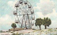 Vintage Postcard - Ferris Wheel on the Isle of Palms