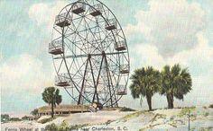 Vintage Postcard - Ferris Wheel on the Isle of Palms