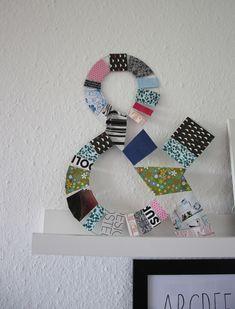 Kunstvolle Typografien aus Faltblättern und Draht - basteln Sie echte Hingucker und werden dabei kreativ. Mehr unter http://binedoro.blogspot.de/2015/06/diy-typografie-aus-draht-und-papier.html
