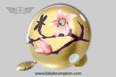 Magnolia bicycle bell, accessory for Brompton