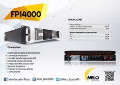 #FP14000 #MELO Amplificador compacto de alto rendimiento, 2 canales de amplificación, 2 entradas de señal balanceada XLR, Selector de ganacia de entrada, sensor de temperatura, sálida pico con todos los canales operados 14000W. DE VENTA CON NUESTROS DISTRIBUIDORES, PREGUNTA POR EL MÁS CERCANO A TU ZONA.