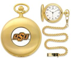 Oklahoma State Cowboys Pocket Watch -Gold