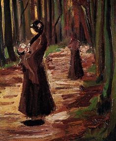 Two Women in the Woods 1882 Vincent van Gogh