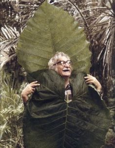 The adorable, charming genius, Roberto Burle Marx in a playful mood.