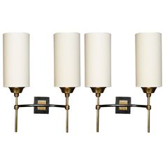 Pair of 1950's Neo Classical Sconces by Maison Arlus   From a unique collection of antique and modern wall lights and sconces at https://www.1stdibs.com/furniture/lighting/sconces-wall-lights/