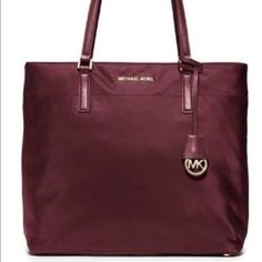 Michael Kors Morgan Large tote in Merlot- NWT Michael Kors Morgan Large tote in Merlot- NWT. Rare bag completely sold out EVERYWHERE. Originally 278 dollars and I am selling for 178. Pictures don't do this purse justice! I am moving onto base with my marine fiancé so please help us out and treat yourself! :) Michael Kors Bags Totes