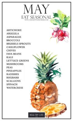 Eat Seasonal Produce Guide for May | ahealthylifeforme.com