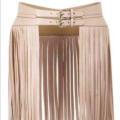 Fringe belt NWT BCBG fringe belt. Size Large. Nude in color! BCBGMaxAzria Accessories Belts