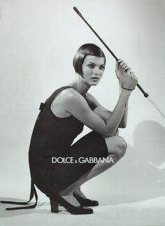 Linda Evangelista photographed by Steven Meisel for Dolce & Gabbana F/W 1995 Ad Campaign Steven Meisel, Linda Evangelista, Winona Ryder, Top Models, Dolce & Gabbana, Divas, Magazine Vogue, Tommy Hilfiger, Outfits Casual