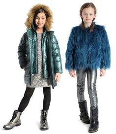 Fall/winter coats for girls from appaman: Love all the playful faux fur mixed with metallics!