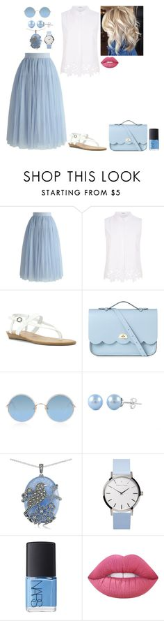 """Clear Skies... Xxx"" by yo-tis-lil ❤ liked on Polyvore featuring Chicwish, Elie Tahari, Blowfish, The Cambridge Satchel Company, Sunday Somewhere, Lord & Taylor, NARS Cosmetics and Lime Crime"
