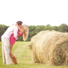 Engagement pic?! I love round bales for any kind of picture, lol.