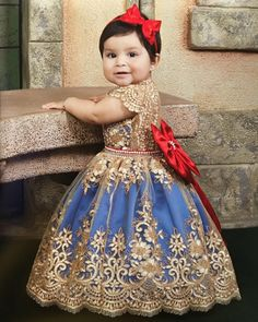 Image may contain: 1 person Kids Prom Dresses, African Dresses For Kids, Wedding Dresses For Kids, Little Girl Dresses, Flower Girl Dresses, Baby Birthday Dress, Birthday Dresses, Beauty And The Beast Wedding Theme, Birthday Girl Pictures