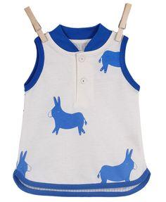 Piupia blue donkey vest #myloveitfive