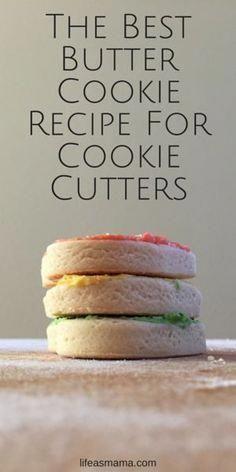 Best Sugar Cookies, Sugar Cookies Recipe, Yummy Cookies, Brownie Cookies, Sugar Cookie Cutout Recipe, Easy Butter Cookies, Best Shortbread Cookie Recipe, Cookie Glaze, Homemade Sugar Cookies