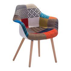 Safdie Occasional Chair Patchwork Multicolor | manhattanhomedesign.com