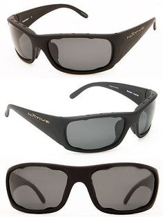 cac4380c3f1 Sport Protective Eyewear 158938  New Native Eyewear- Mens Bomber Polarized  Sunglasses Matte Black Gray -  BUY IT NOW ONLY   99 on eBay!