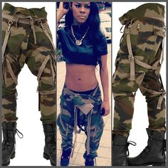 teyana taylor style ♔Life, likes and style of Creole-Belle ♥ Tomboy Chic, Tomboy Fashion, Dope Fashion, Fashion Killa, Urban Fashion, Fashion Looks, Dope Outfits, Swag Outfits, Pretty Girl Swag