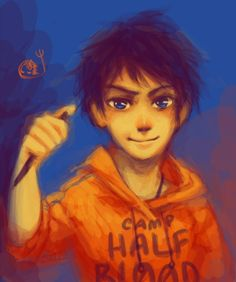 Little Percy <3 OH NO! POSEIDON WHY DID YOU GIVE HIM THAT PEN SO YOUNG!!!! HE'S GONNA KILL SOMBODY!!! AHHHH!!!