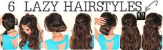 6 Easy Lazy Hairstyles | How to 5 Minute Everyday Hair styles