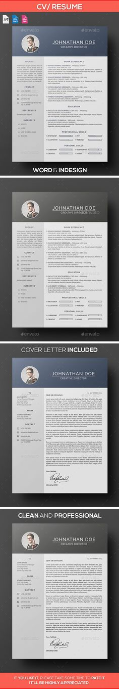 1000  ideas about cv design template on pinterest