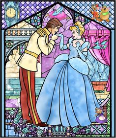 Disney Stain Glass- reminds me of the beauty and the beast one ♥
